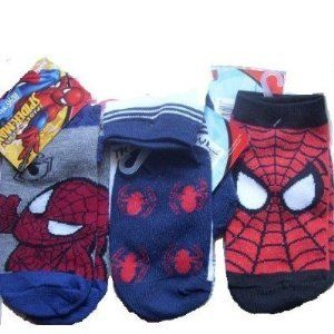 BOYS MARVEL SPIDERMAN CHARACTER SOCKS VARIOUS SIZES