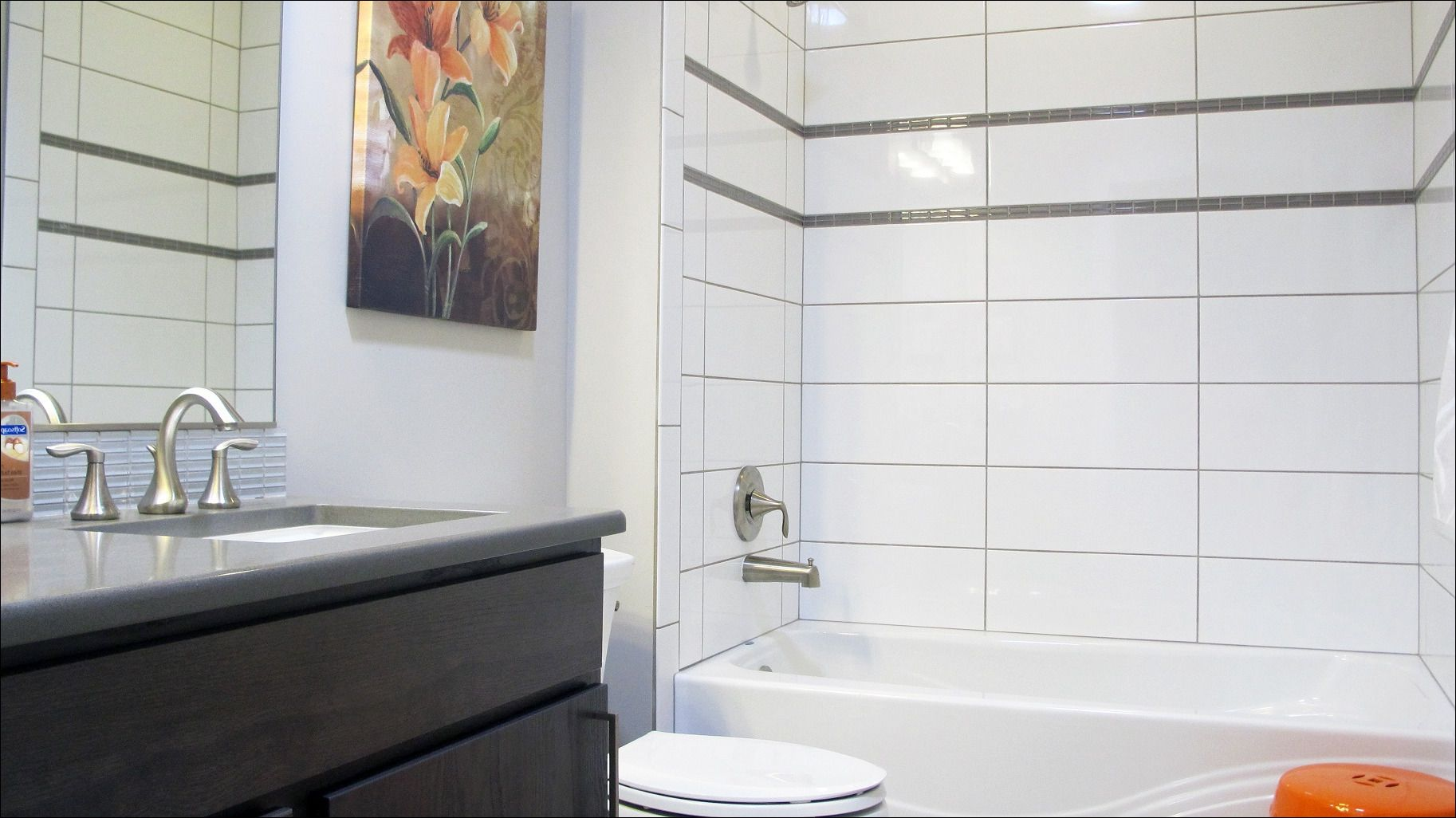 Image Result For Large White Bathroom Tiles Grey Grout