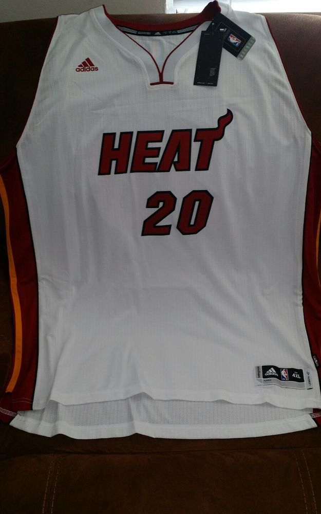 13d9e8d38 Adidas justise winslow  20 miami heat nba jersey NWT size 4XL Lenght +2 mens