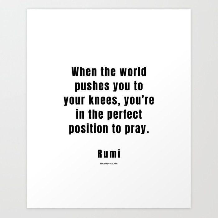 29 | Rumi Quotes | 210106| Poet Poem Sufi Literature Spiritual Mystic Wall Art Decor Art Print by Wordz