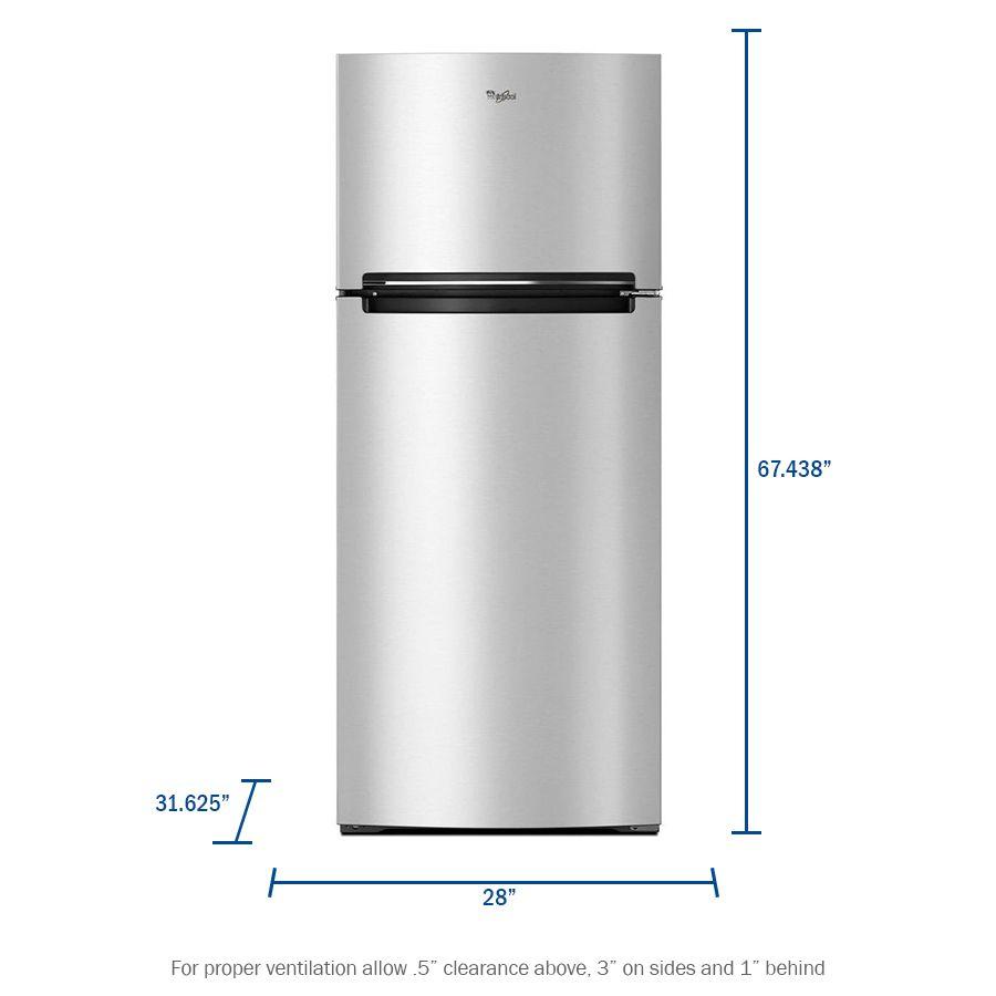 Whirlpool 17 6 Cu Ft Top Freezer Refrigerator Monochromatic