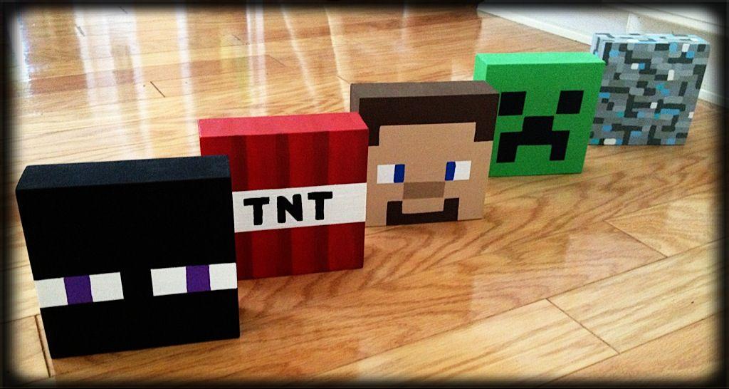 Minecraft, DIY, bedroom decor, Enderman, TNT, Steve ...