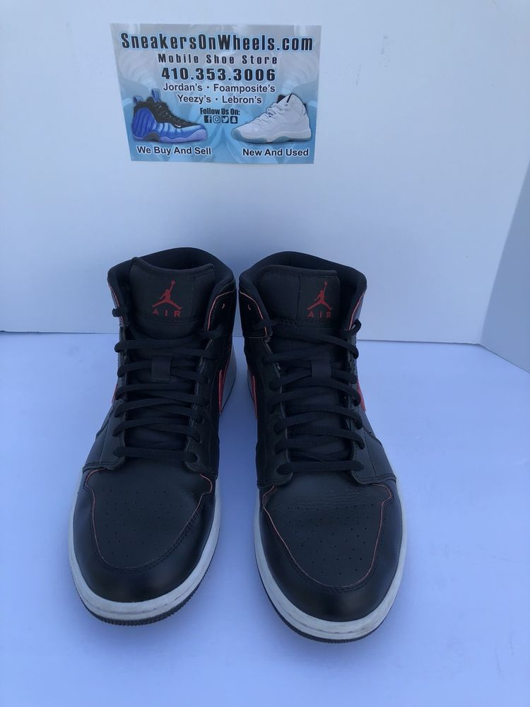 save off 65fff 93576 Nike Air Jordan 1 Mid Bred 2014 Black  Gym Red  White 554724-020 Size 9   fashion  clothing  shoes  accessories  mensshoes  athleticshoes (ebay link)
