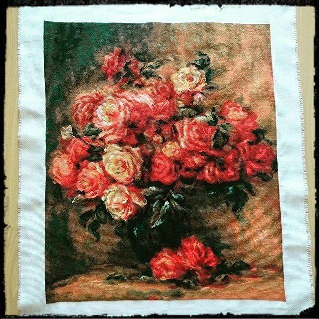 Свадебный букет, ренуар - букет роз