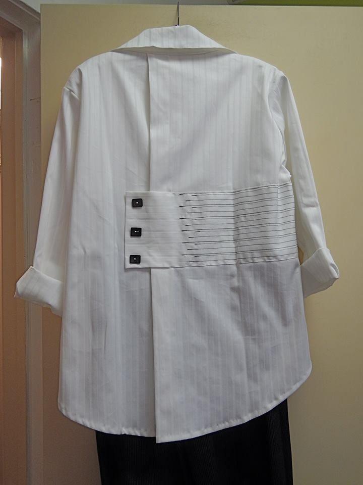 переделка рубашки | Altering | Переделки | Pinterest | Blusen ...