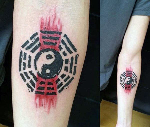 60 Yin Tang Tattoos For Men Contrasting Chinese Designs Symbols