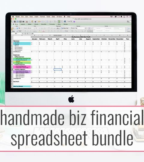 Handmade Biz Financial Spreadsheet Discounted Bundle Inventory - Financial Spreadsheet For Small Business