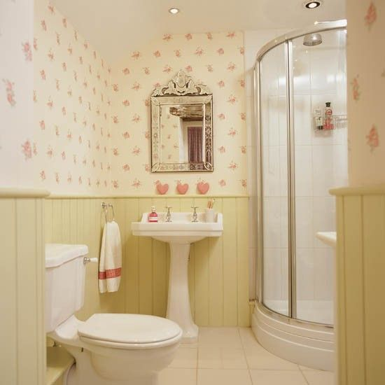 Badezimmer design ohne fliesen wandpaneele tapeten blumen rosa wohnen badezimmer badezimmer for Fliesen tapete badezimmer