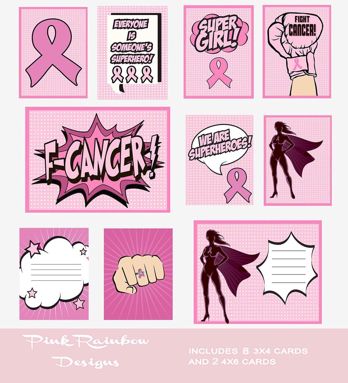 Breast cancer awareness superhero pocket page project life scrapbook