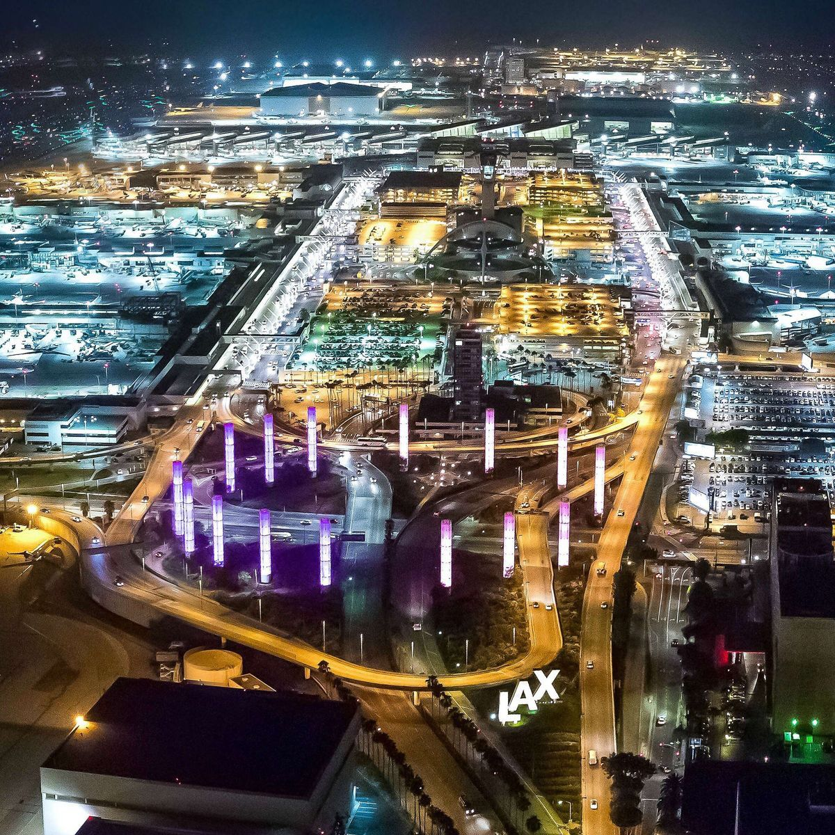 Lax At Night Los Angeles International Airport Airport Design Cruise Travel