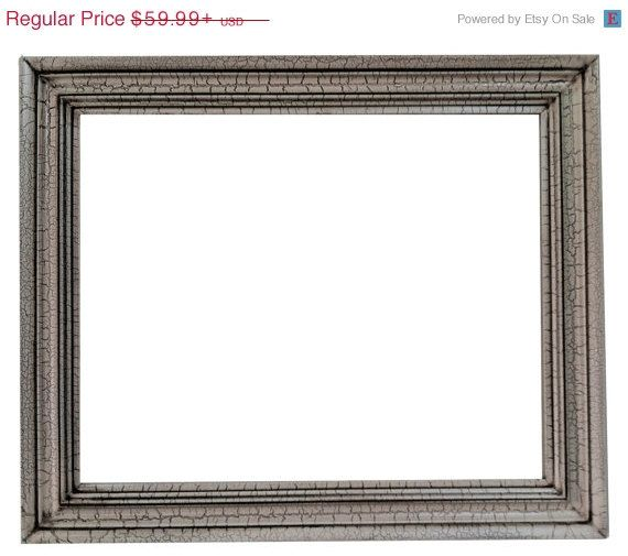 ON SALE 16x20 Rectangle mirror frame cracked finish by Fancydecor ...