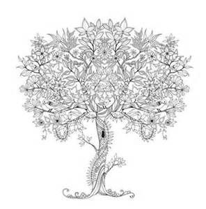 Tree Coloring Page Adult Club Secret Garden