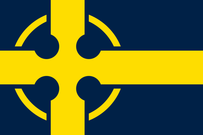 Nordic Flags With Celtic Crosses Flag Art Flag Alternate History