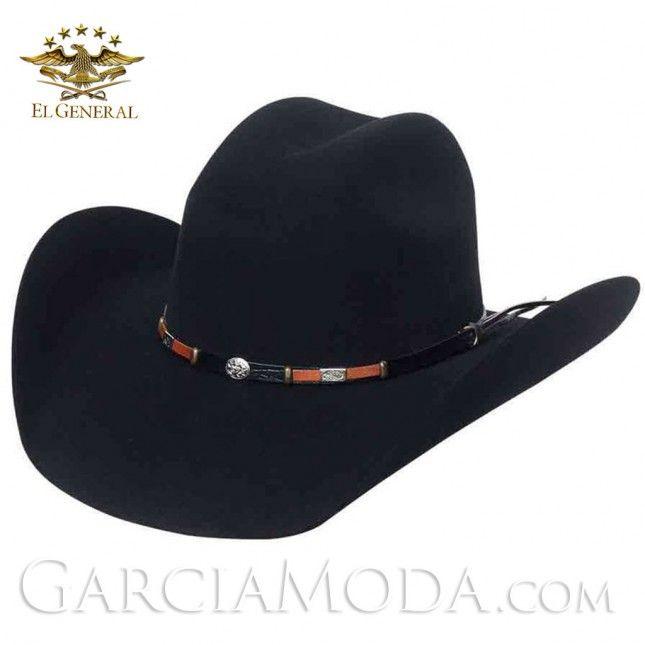 f4a61abb Texana 23075 El General Western 50X LANA NEGRO TORO Western Wear,  GarciaModa.com