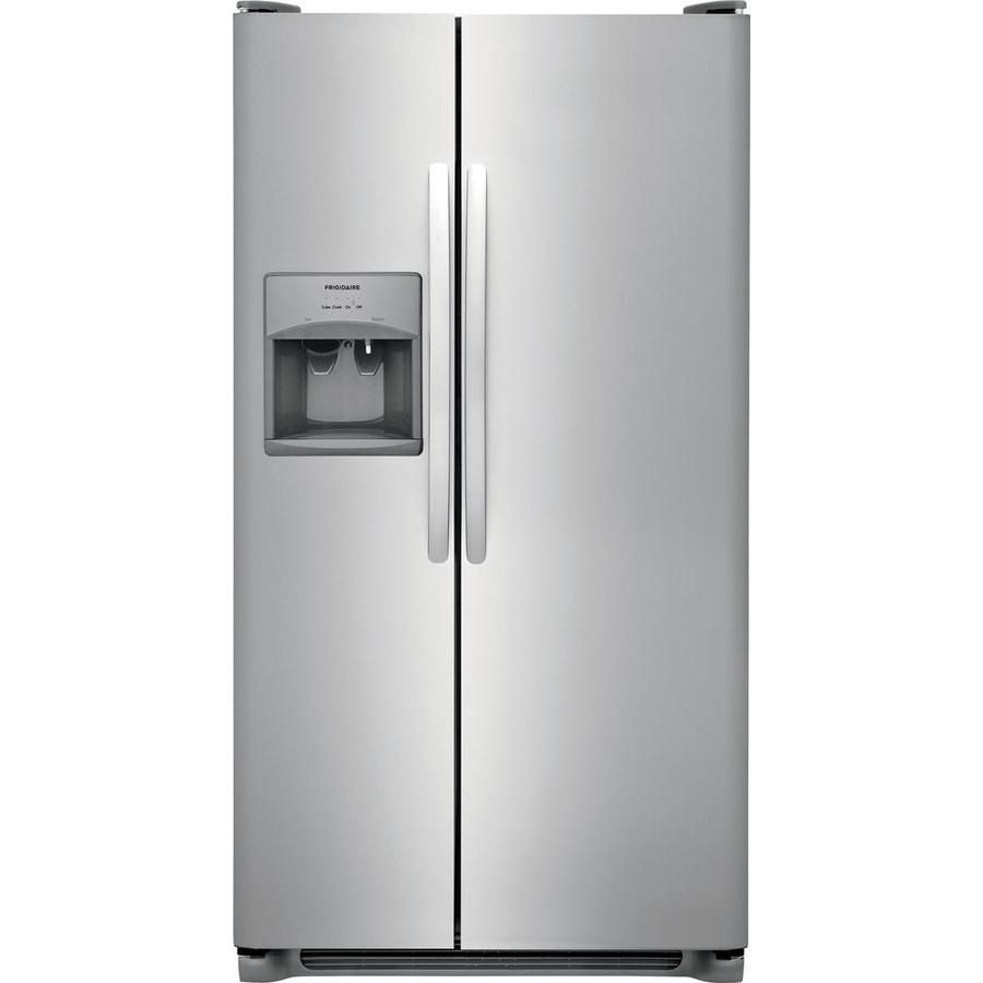 Frigidaire cu ft sidebyside refrigerator with ice maker