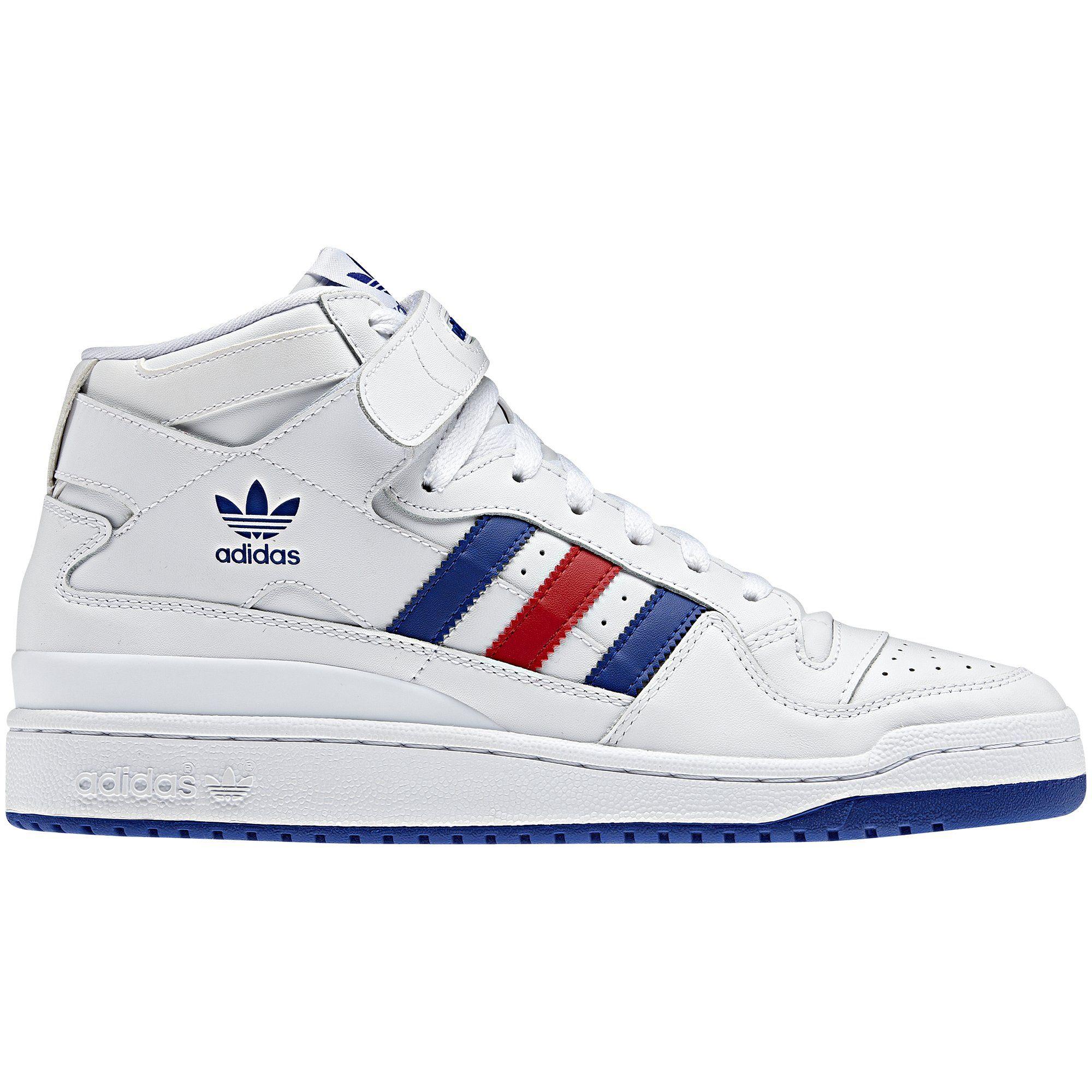 separation shoes d8da6 90472 Adidas Originals Mens Forum Mid, White  Collegiate Red  Collegiate Royal