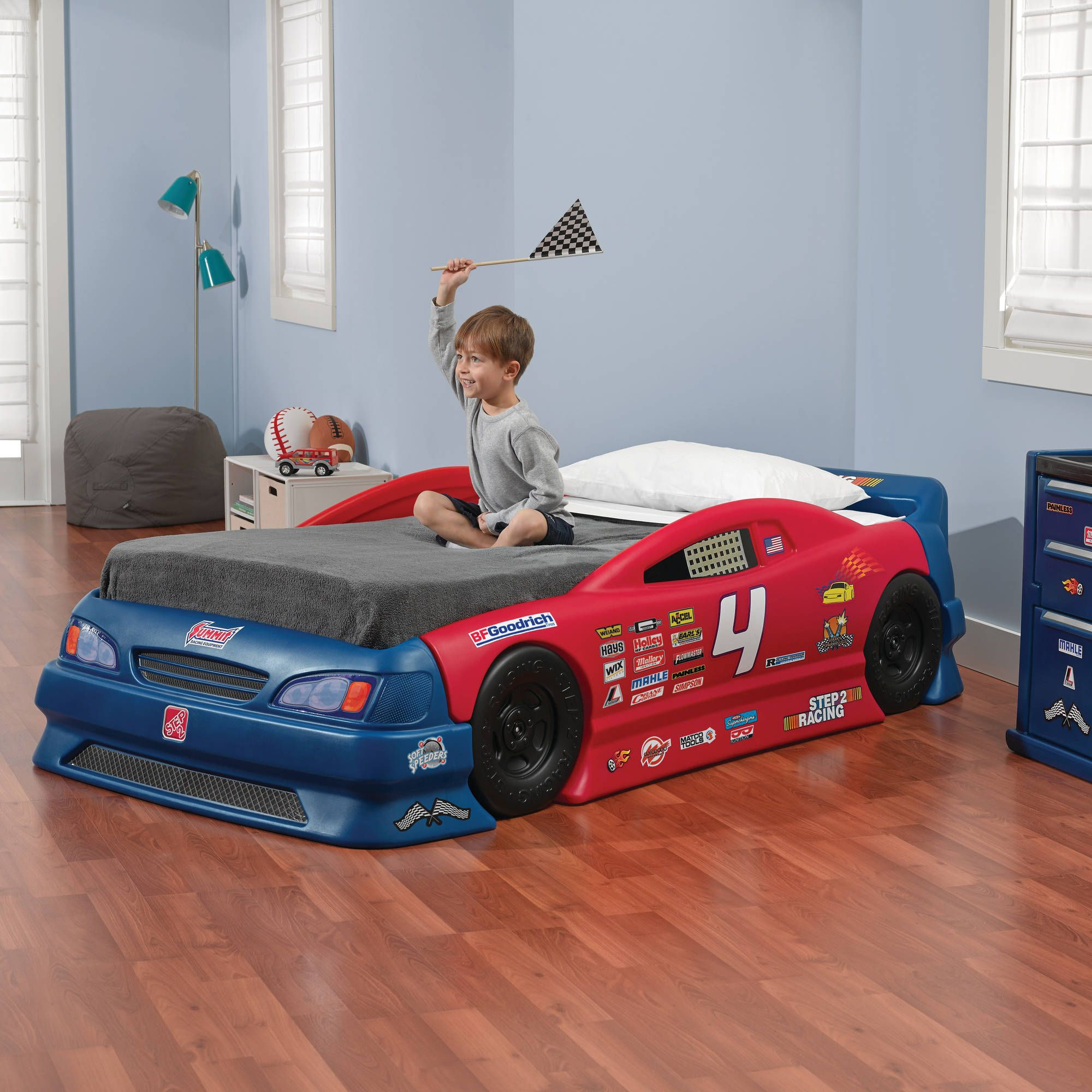 Step2 Stock Car Convertible Toddler To Twin Bed Luxury Kids Bedroom Convertible Bed Kids Bedroom Designs Convertible toddler to twin bed