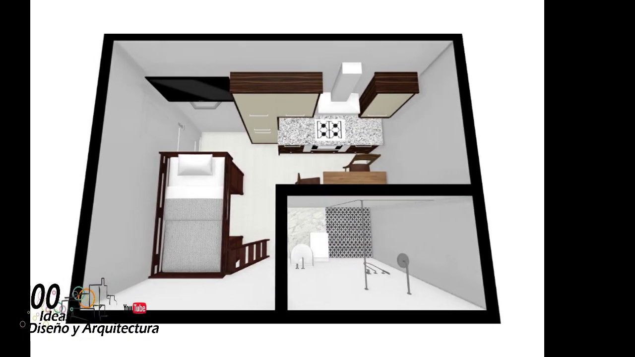 Mini Piso 4x3 12 M2 Modelo Gratis Con Medidas Apartaestudio Para Alqui Mini Piso Apartaestudio Mini Loft