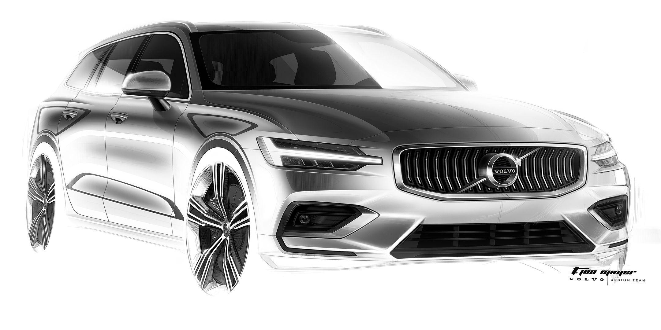 Volvo V60 Sketch
