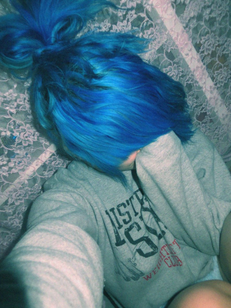 Blue hair scene hairstyle scene hairstyles pinterest indie