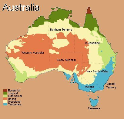 Australia Map Climate.Australia Climate Weather Zones And Australian States Climatic