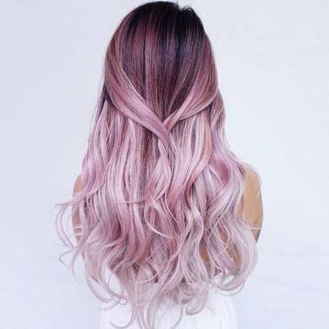 Tendance Couleur de cheveux Soft pink ombre locks