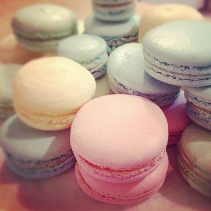 pastel color french macarons party - made by me!