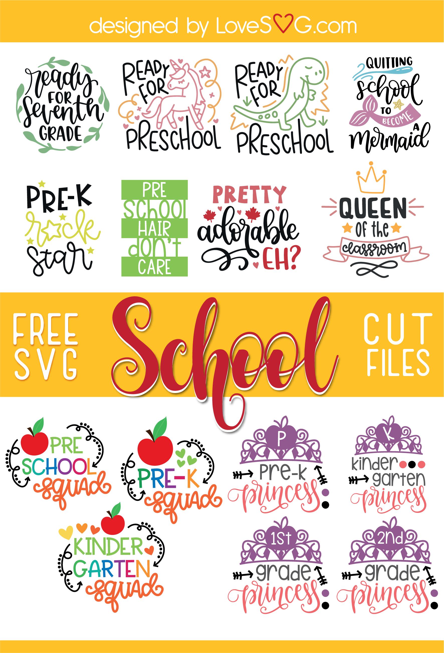 Free School SVG Cut Files  | LoveSVG.com