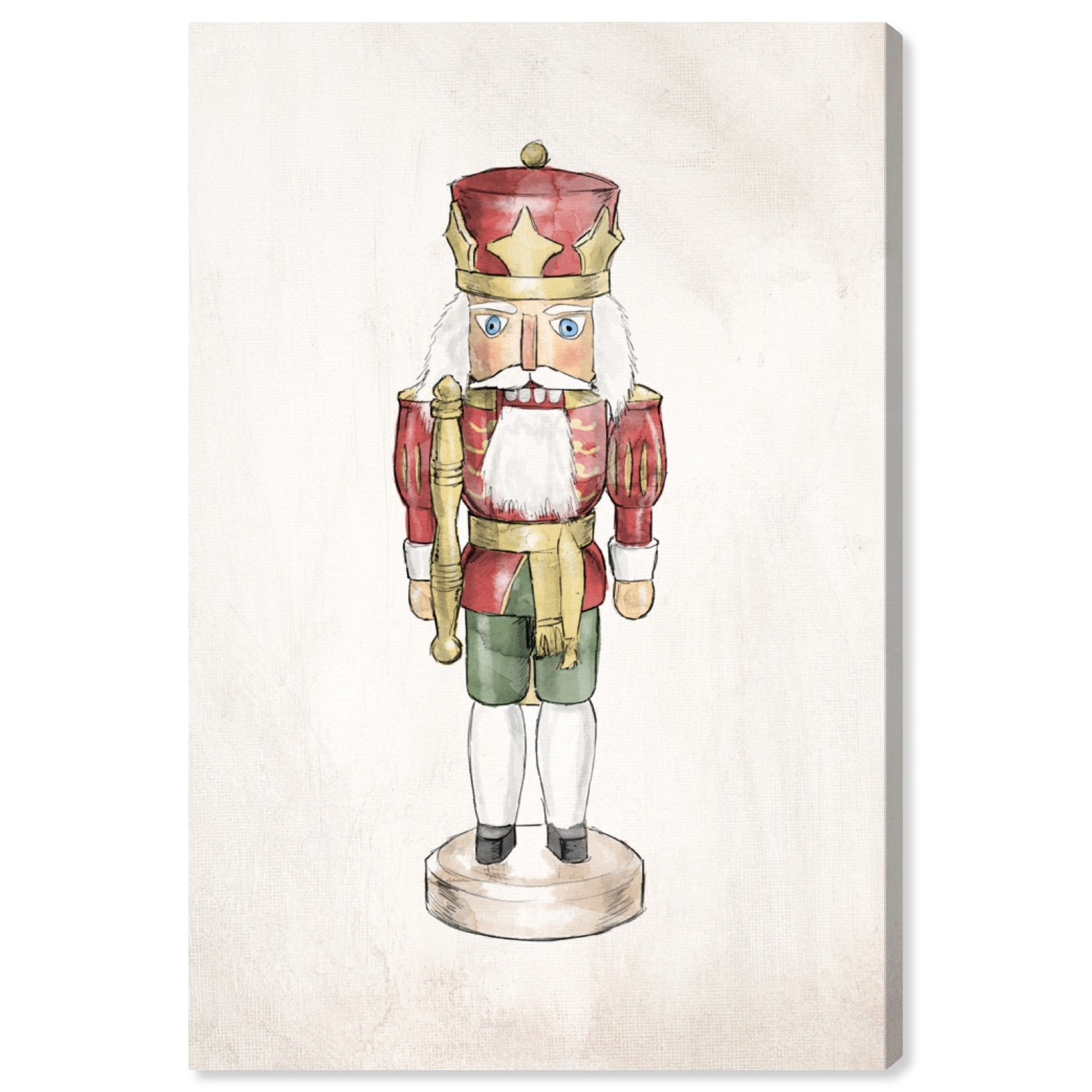 Runway Avenue Holiday And Seasonal Wall Art Canvas Prints Nutcracker Iii Holidays Red White Walmart Com In 2020 Canvas Wall Art Contemporary Wall Art Canvas Prints Canvas Wall Art