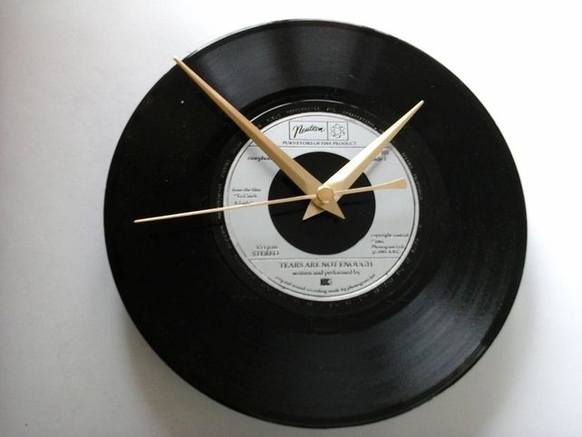 "ABC- Tears are not enough   7"" record clock gift £6.99"