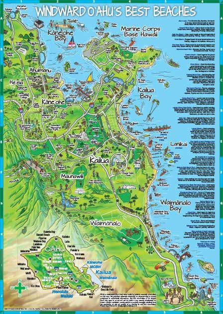 Marine Corps Base Hawaii Map.Kailua Map Detailed Neighborhood Map Of Kailua Lanikai And