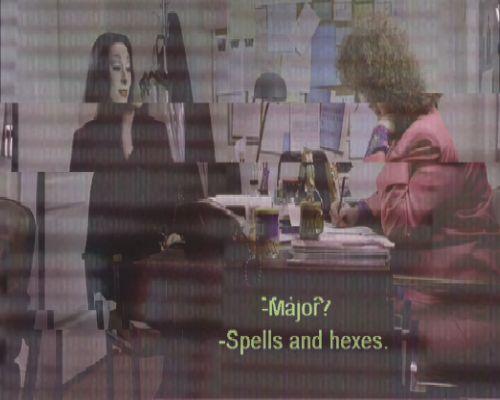 Morticia, Glitched † #glitch #glitchart #glitched #still #stillframe #subtitles #subtitled #spells #hexes #witch #witchcraft #icon #Morticia #TV #TheAddamsFamily