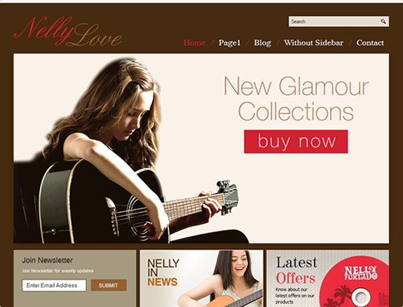 Music Website Themes for your Music website. | Music Website Theme ...