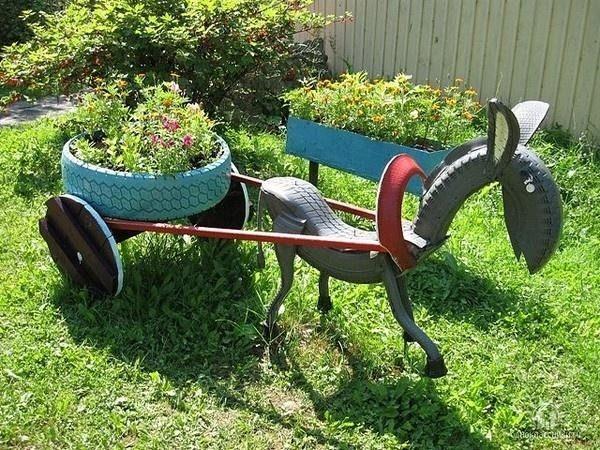 objetos antiguos jardines rusticos veranito Pinterest