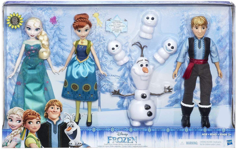 Disney frozen fever friends deluxe 7piece set playsets
