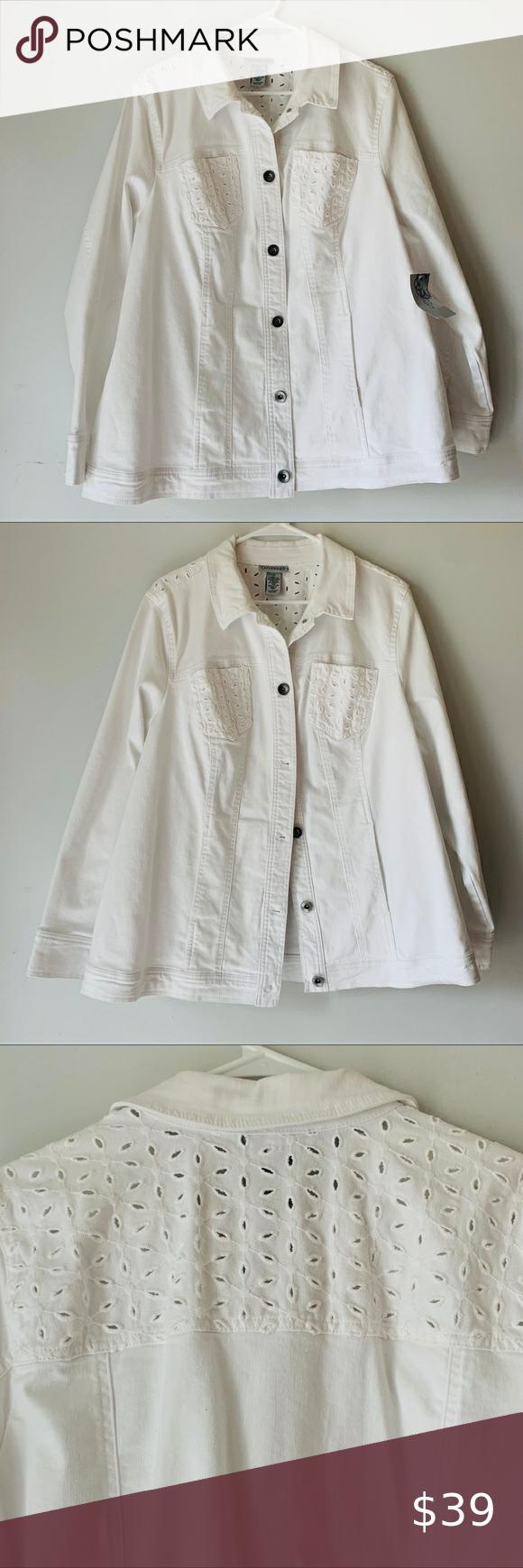 New Catherines Eyelet White Denim Jean Jacket Plus White Denim Jeans White Denim Jean Jacket [ 1740 x 580 Pixel ]