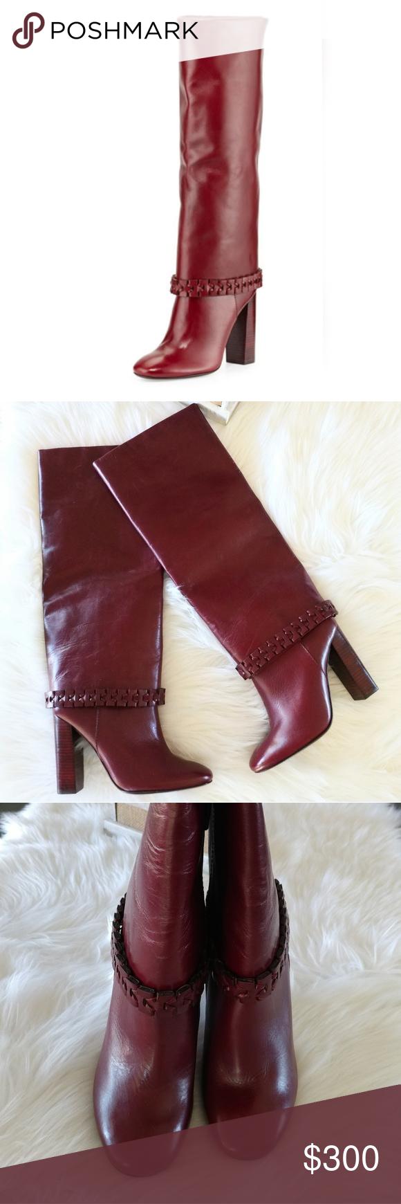 7e5c3075681 NEWTory Burch Sarava Leather Knee Boot
