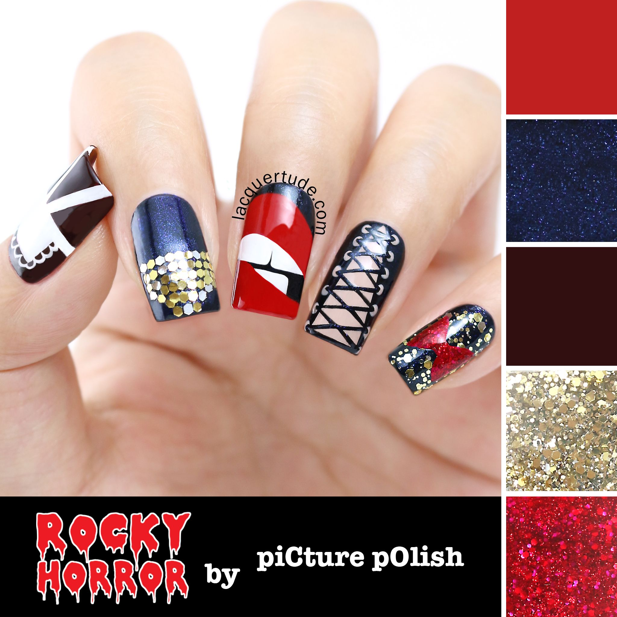 Picture Polish Rocky Horror Show Nail Collection Swatches Review