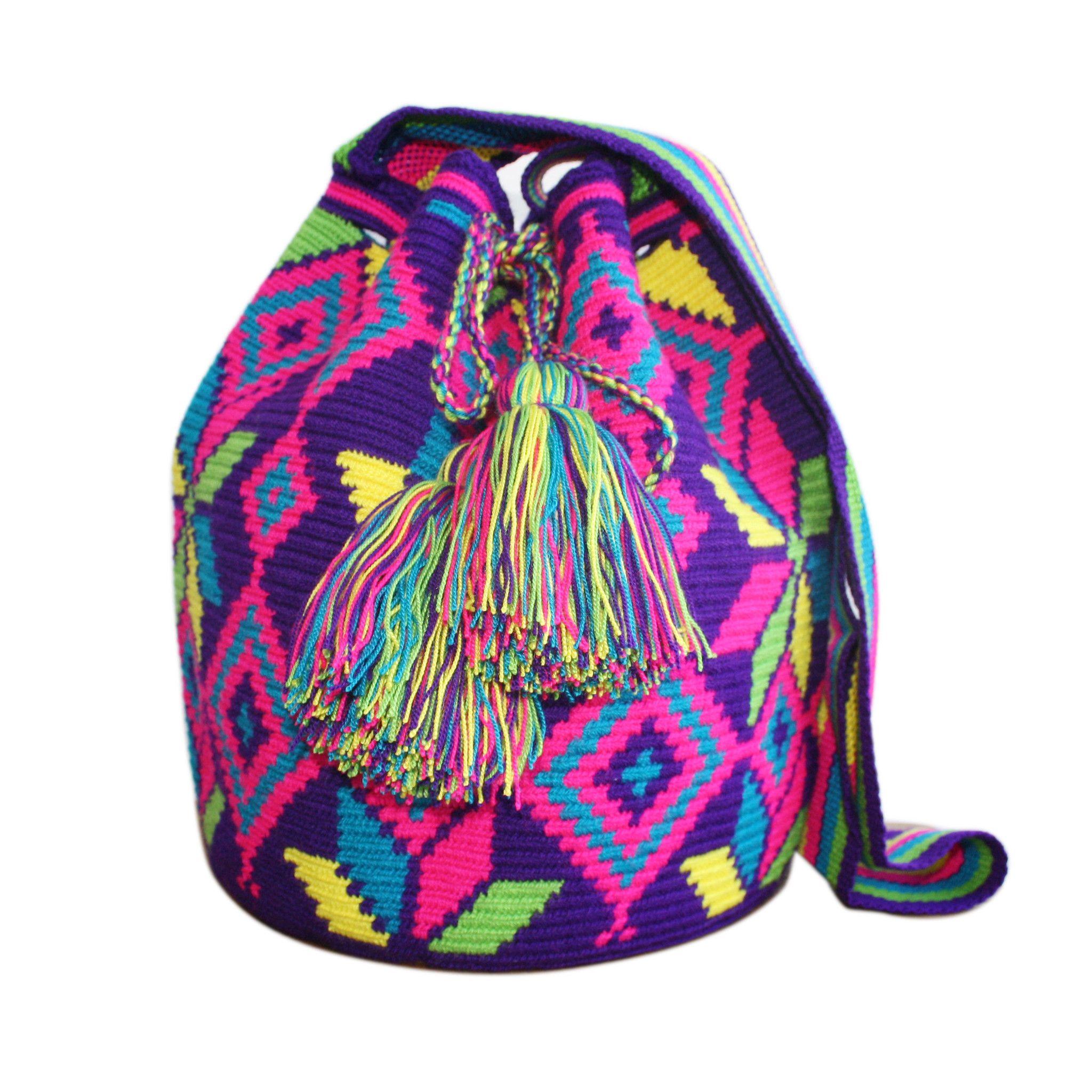 Wayuu Mochila Luciana bag at crystalcovecollective.com.au