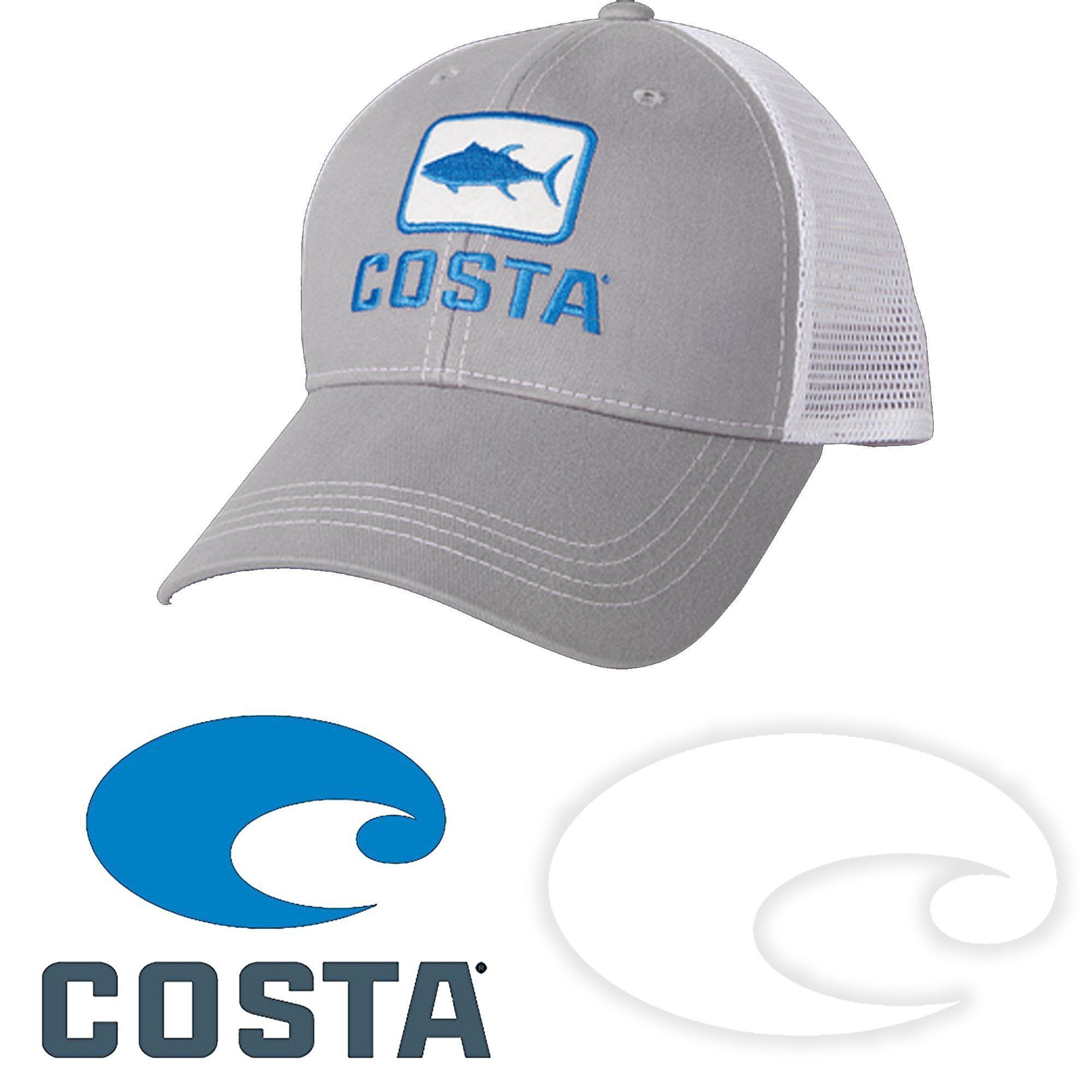 101f54a947333 Costa Del Mar Tuna Trucker Hat and Costa Decal Stickers Pack ...