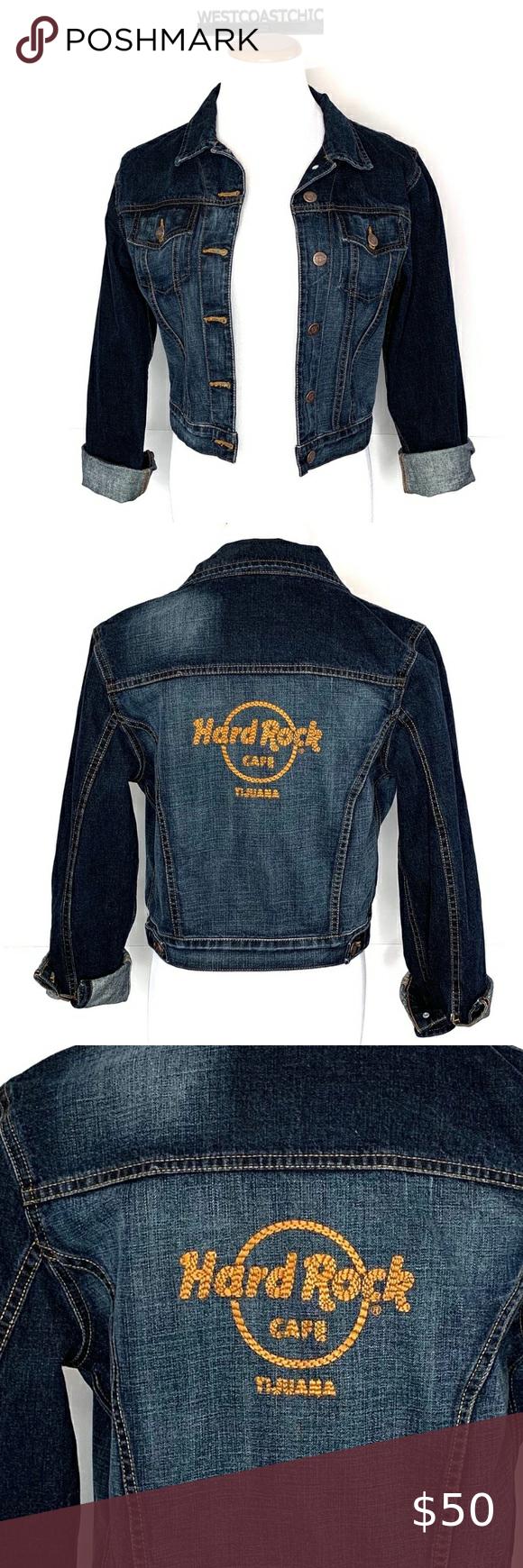 Hard Rock Cafe Tijuana Denim Jacket Size Small This Is A Hard Rock Cafe Tijuana Jean Jacket In Excellent Pre Owned Conditio Cafe Jacket Denim Jacket Jean Coat [ 1740 x 580 Pixel ]
