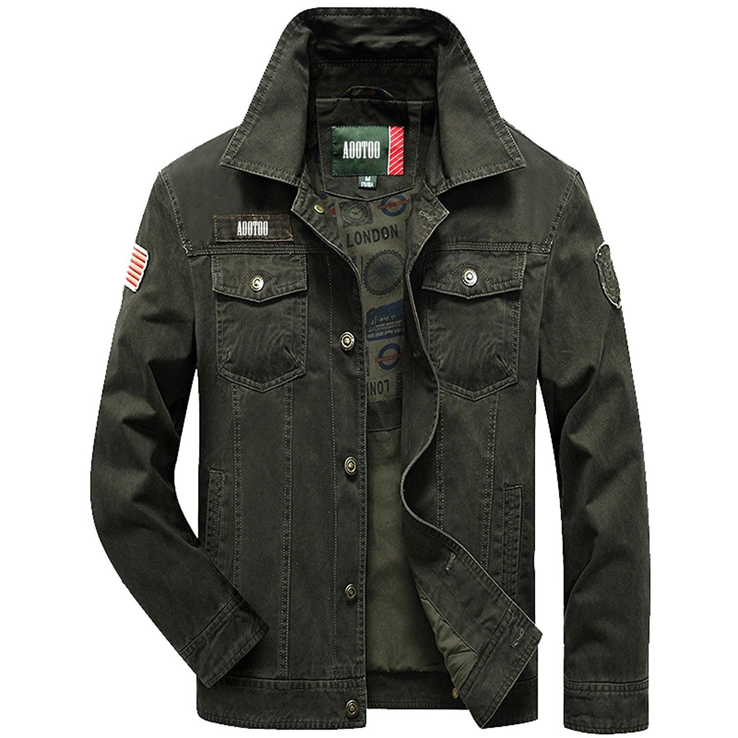 3195788f985 Men's Clothing, Jackets & Coats, Lightweight Jackets, Mens Casual Cotton  Bottom Down Lightweight Jackets - Army Green - CC12O6BTQPZ #style #fashion # Jackets ...