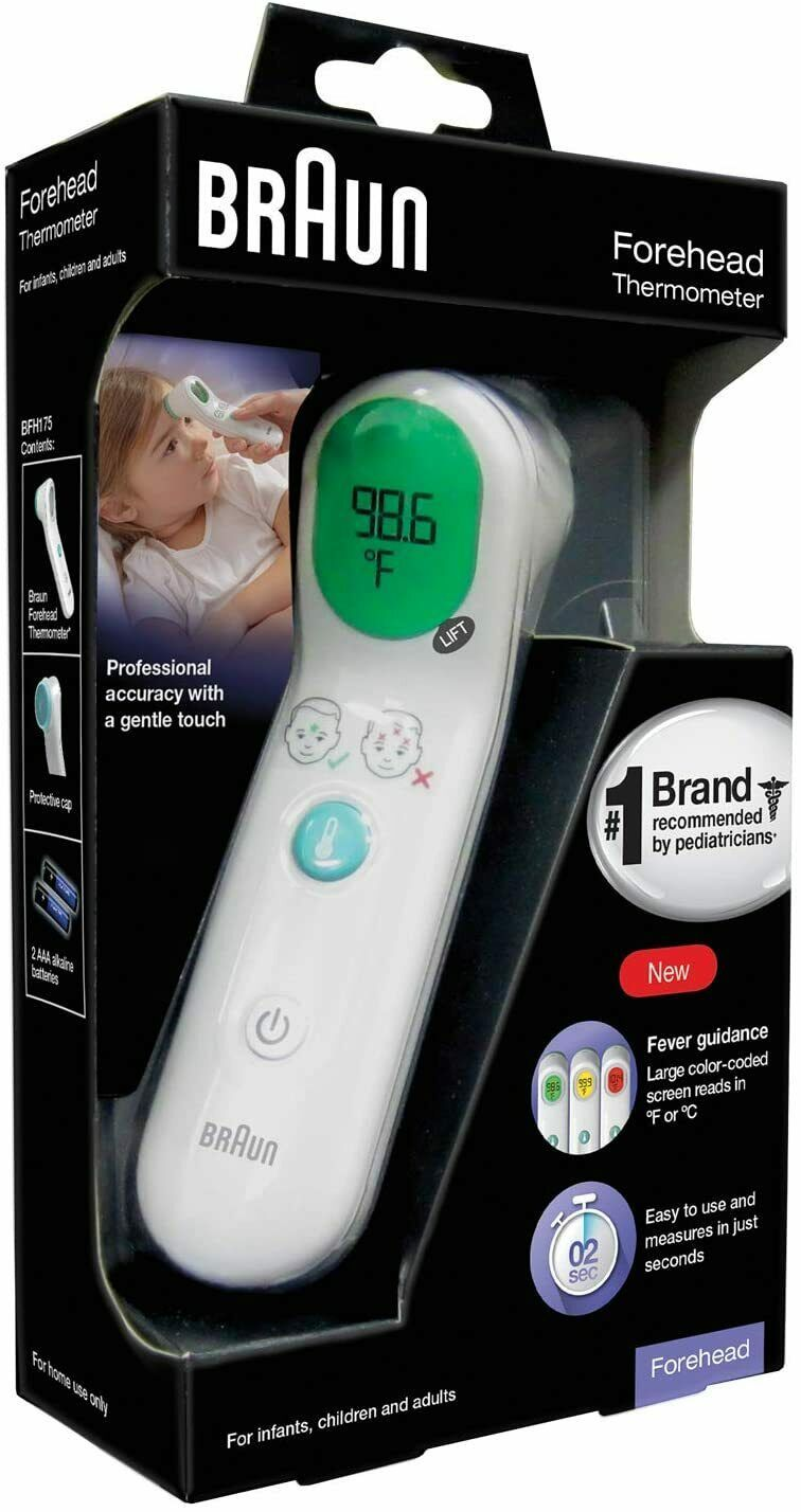 LCD Screen 0.1s Fast Reading for Adults and Kids Accurate Forehead Digital,Infrared Touchless Non-Contact,Handheld