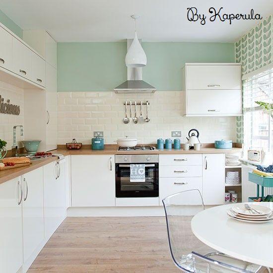 Resultado de imagen de decoracion cocina verde menta | cocina ...