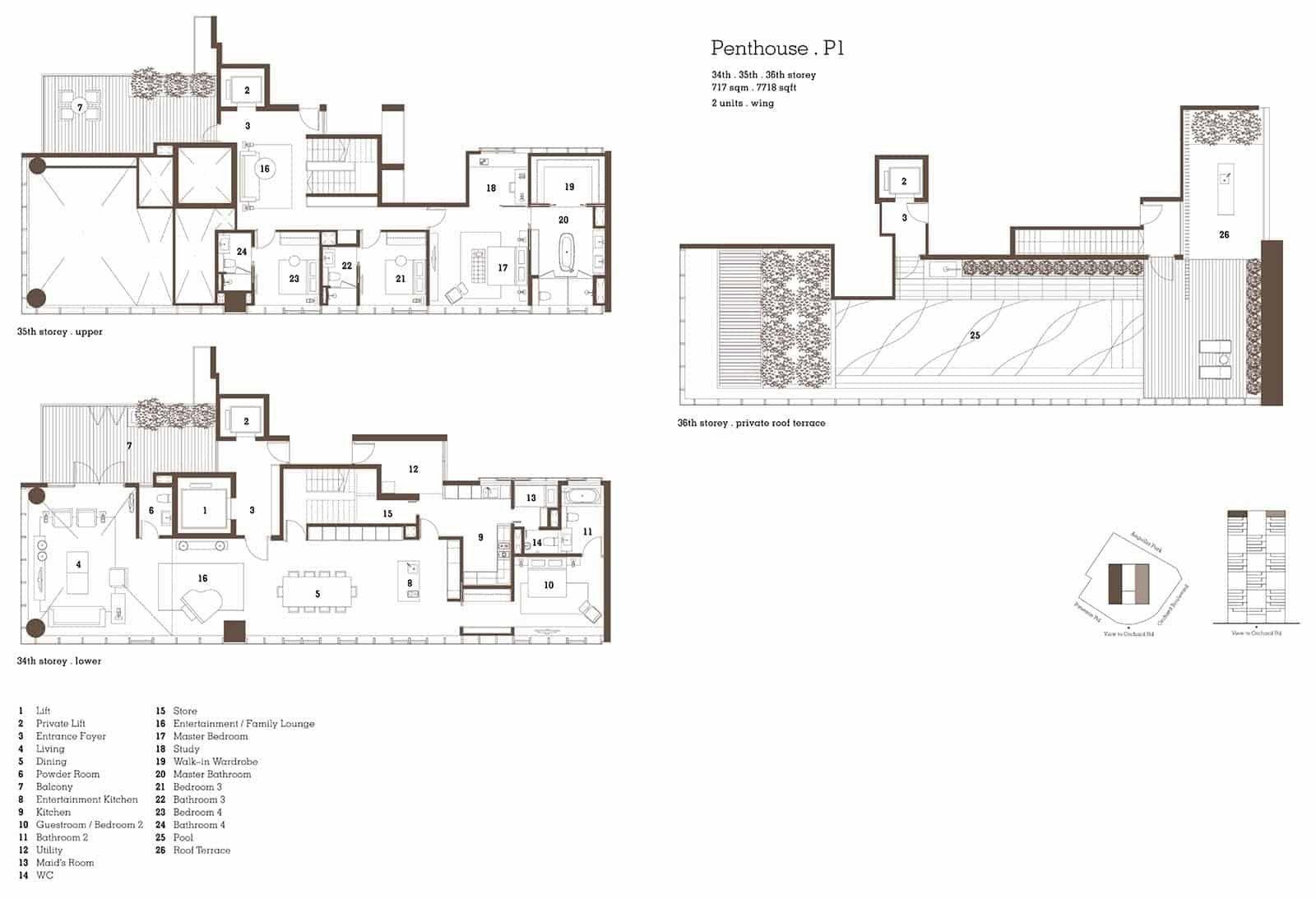 Twentyone Anguilla Park Singapore Penthouse Pent House Floor Plans Condominium