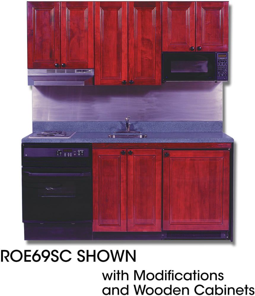 Acme roey compact kitchen with stainless steel countertop