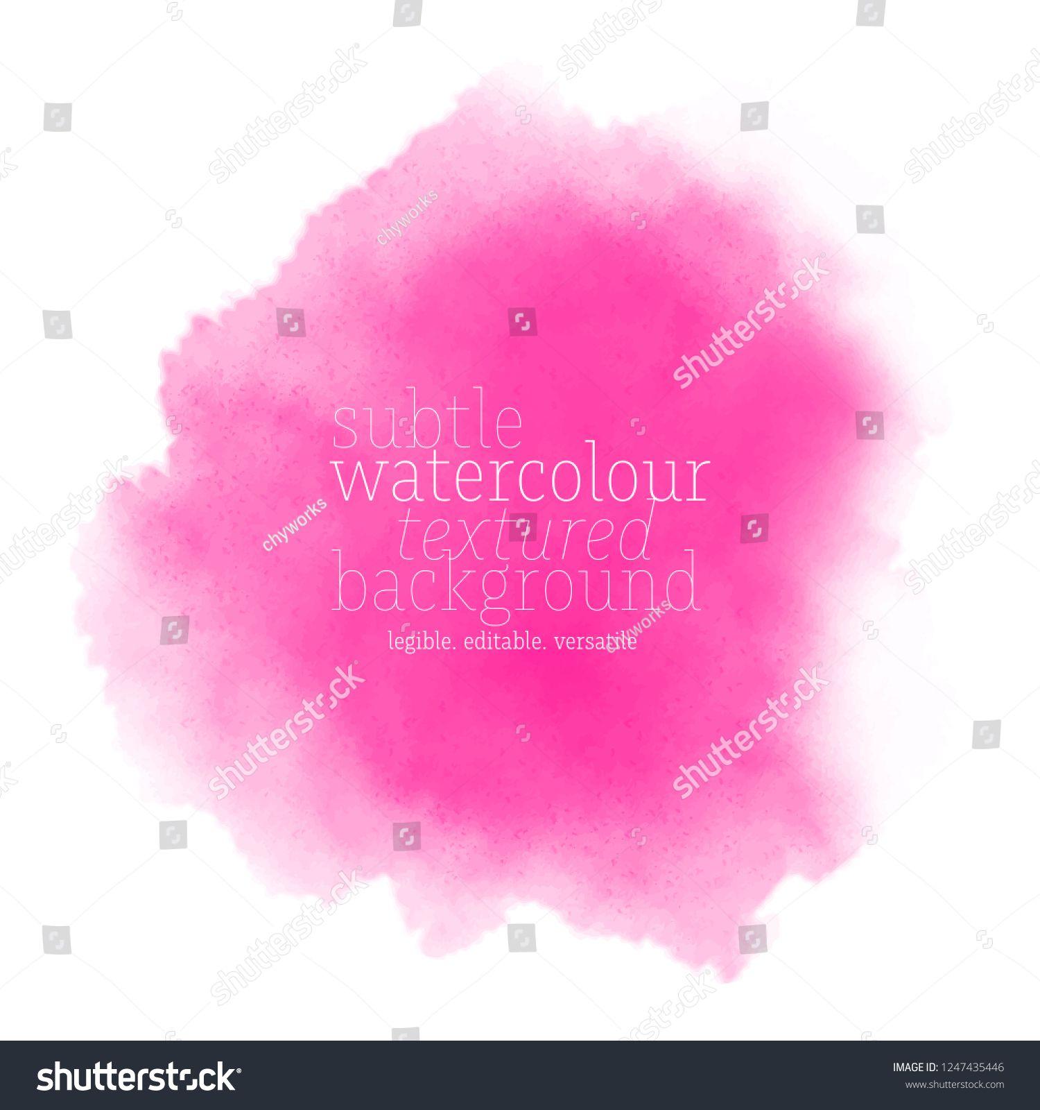 Pink Watercolor Splash Vector Eps 8 Sponsored Spon