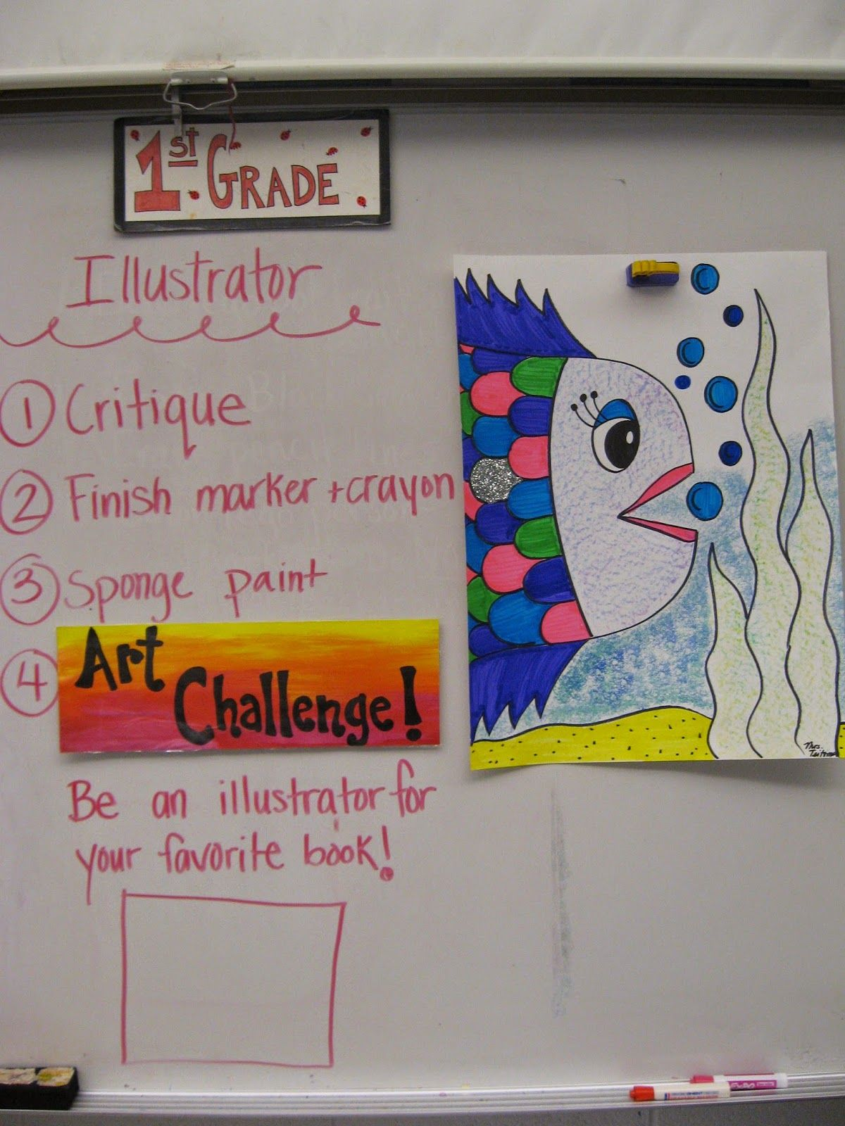 1st Grade Artists Talked About The Many Art Professions