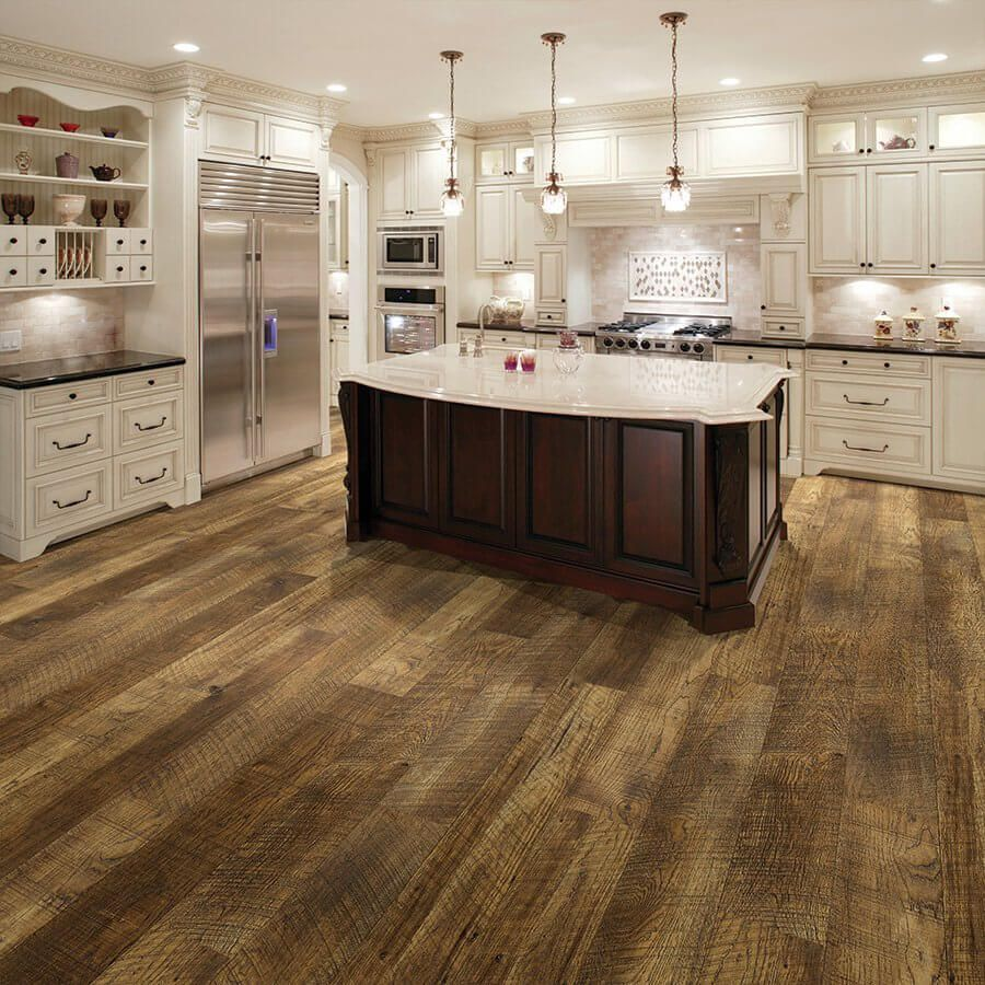 Perfect Kitchen With Waterproof Reclaimed Looking Floors Courtier Premium Vinyl Plank Flooring Monarch Hickory Rigid