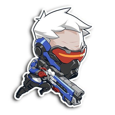 Soldier76 Sticker   Overwatch, Soldier 76 and Graffiti characters